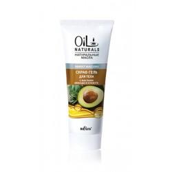 Скраб-гель Эффект массажа Oil Naturals Белита для тела с маслом авокадо и кунжута