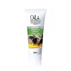 Скраб-гель Ровная кожа Oil Naturals Белита для тела с маслом оливки и косточками винограда