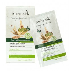 Маска для волос восстанавливающая Аптекарь Хна + зародыши пшеницы