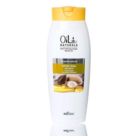 Крем-гель для душа Нежная забота Oil Naturals Белита с маслом арганы и жожоба