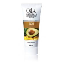 Скраб для лица Классический Oil Naturals Белита для всех типов кожи с маслом авокадо и кунжута