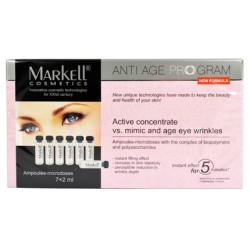 Активный концентрат от мимических и возрастных морщин Anti age program Markell вокруг глаз