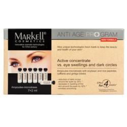 Активный концентрат от отеков и темных кругов под глазами Markell