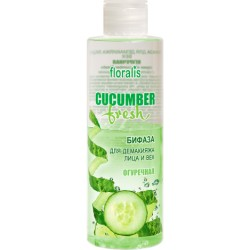Бифаза для демакияжа лица и век Огуречная Cucumber Fresh Floralis