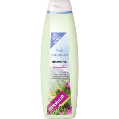 Шампунь Репейный Nature line Floralis против выпадения волос