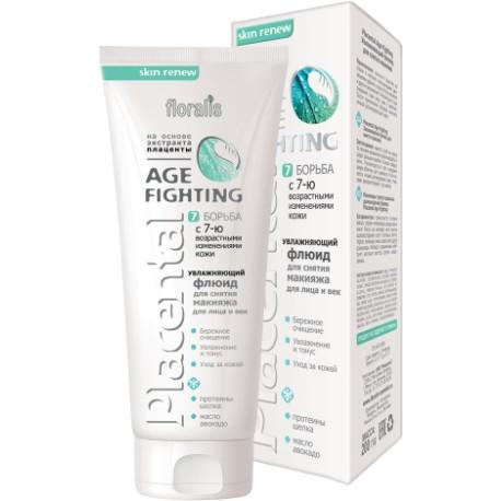 Увлажняющий флюид Placental Age-Fighting Floralis для снятия макияжа