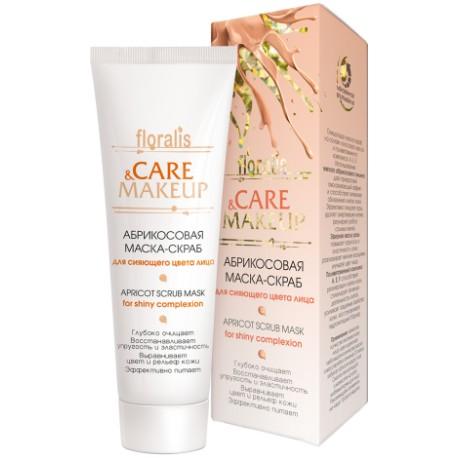 Маска-скраб для лица Абрикосовая Care & Makeup Floralis для сияющего цвета