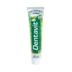 Зубная паста Лечебные травы Dentavit Витэкс с фтором