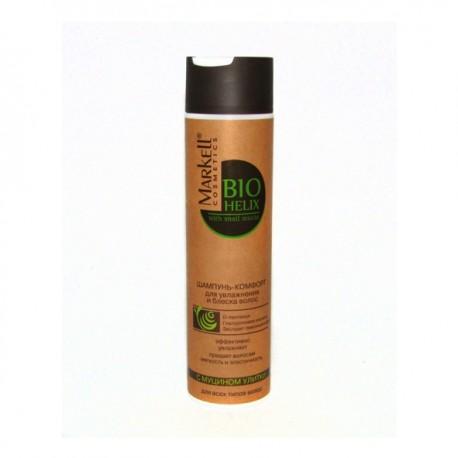 Шампунь-комфорт с муцином улитки Bio Helix Markell для увлажнения и блеска волос
