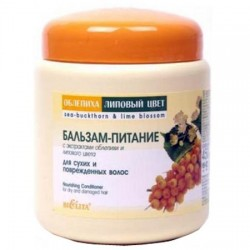Бальзам-питание Облепиха и липовый цвет Белита для сухих поврежданных волос