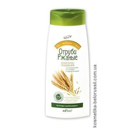 Шампунь-очищение Ржаные отруби На отварах трав Белита для нормальных и жирных волос