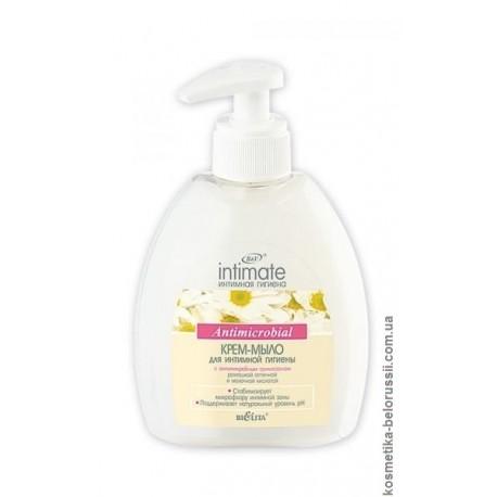 Крем-мыло для интимной гигиены Интимная гигиена Intimate Белита с антимикробным триклозаном